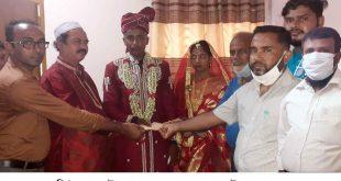 নাঙ্গলকোট প্রেসক্লাবের উদ্যোগে নিঃস্ব সিমলার ধুমধামে বিয়ে